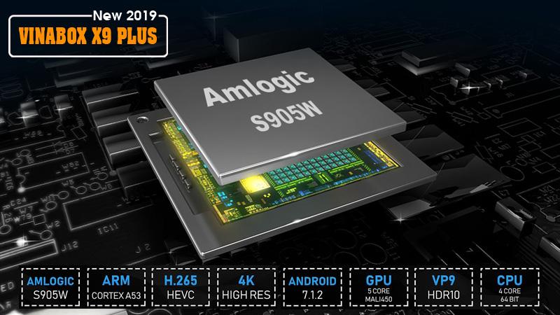 ANDROID SMART BOX VINABOX X9 PLUS CHÍNH HÃNG - CHIP LÕI TỨ, RAM 2GB - ĐIỀU KHIỂN BẰNG GIỌNG NÓI - ĐỈNH CAO GIẢI TRÍ
