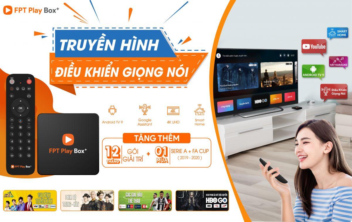 FPT Play Box + 2020 Chính Hãng điều khiển bằng giọng nói (Voice, Bluetooth, 4K) - Tặng gói quà tết cao cấp 1.500.000