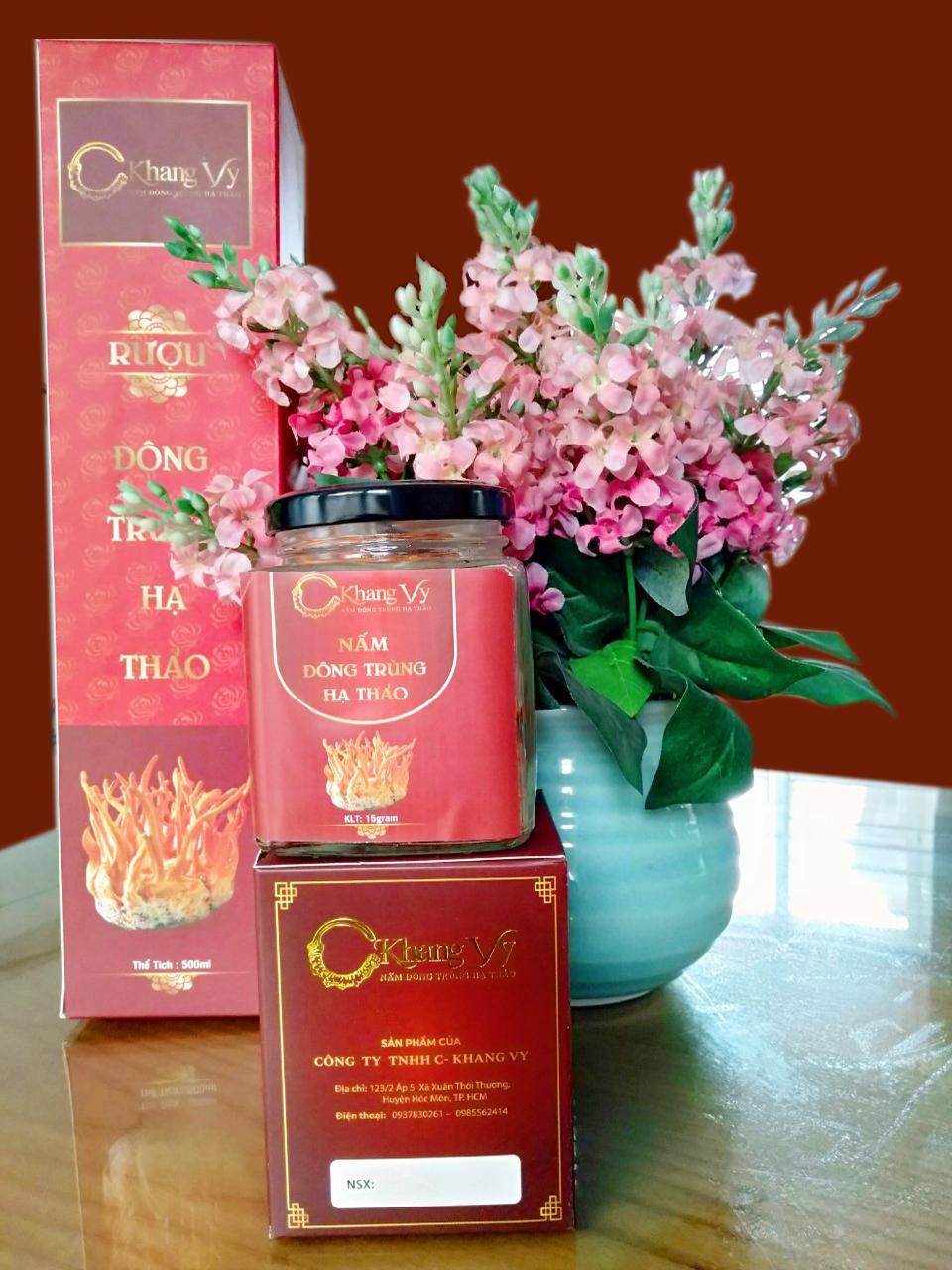 Hộp Đông trùng hạ thảo nguyên con sấy thăng hoa loại đặc biệt C-Khang Vy