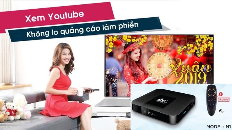 SCTV ANDROID BOX CAO CẤP CHÍNH HÃNG - REMOTE VOICE SEARCH