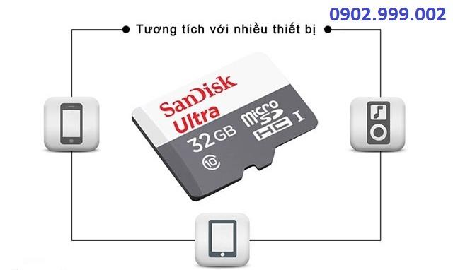 Thẻ nhớ SanDisk SDHC Ultra 16GB Class 10  98MB/s