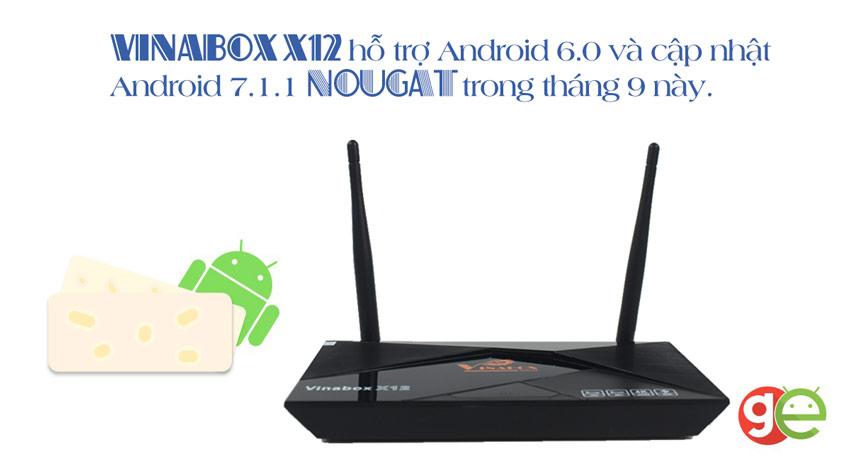 VINABOX X12 BẢN 2G RAM – CHIP 8 NHÂN, ROM 16G ANDROID 6.0.1