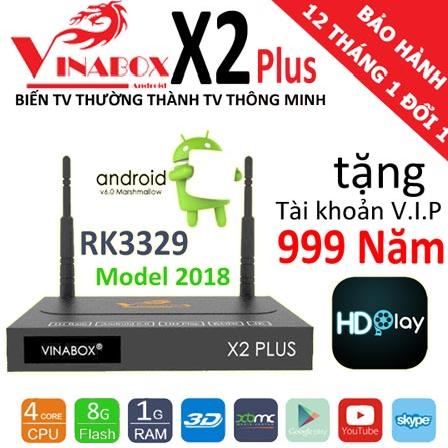 VINABOX X2 PLUS VER 2 2018 CHÍNH HÃNG