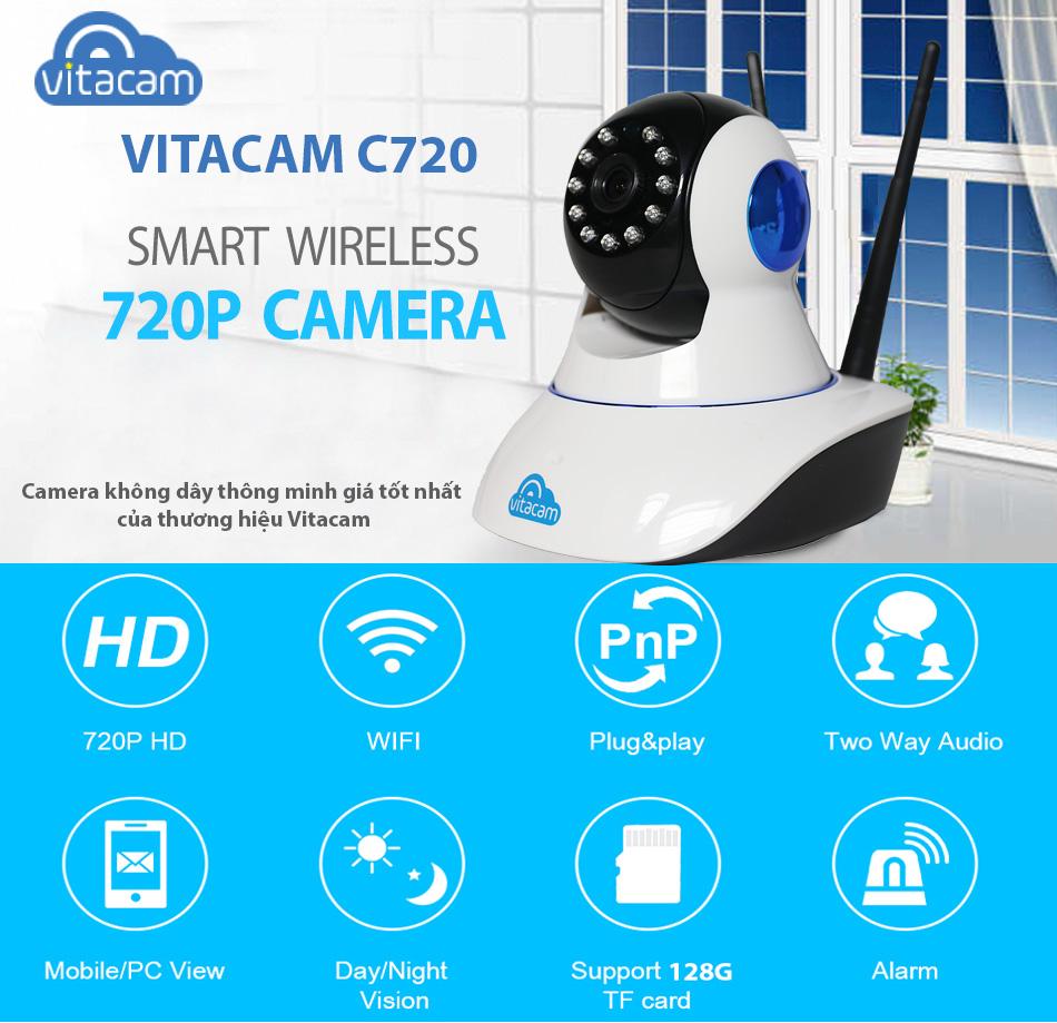 VITACAM C720 - HD 720P - CAMERA IP WIFI GIÁ TỐT NHẤT HIỆN NAY