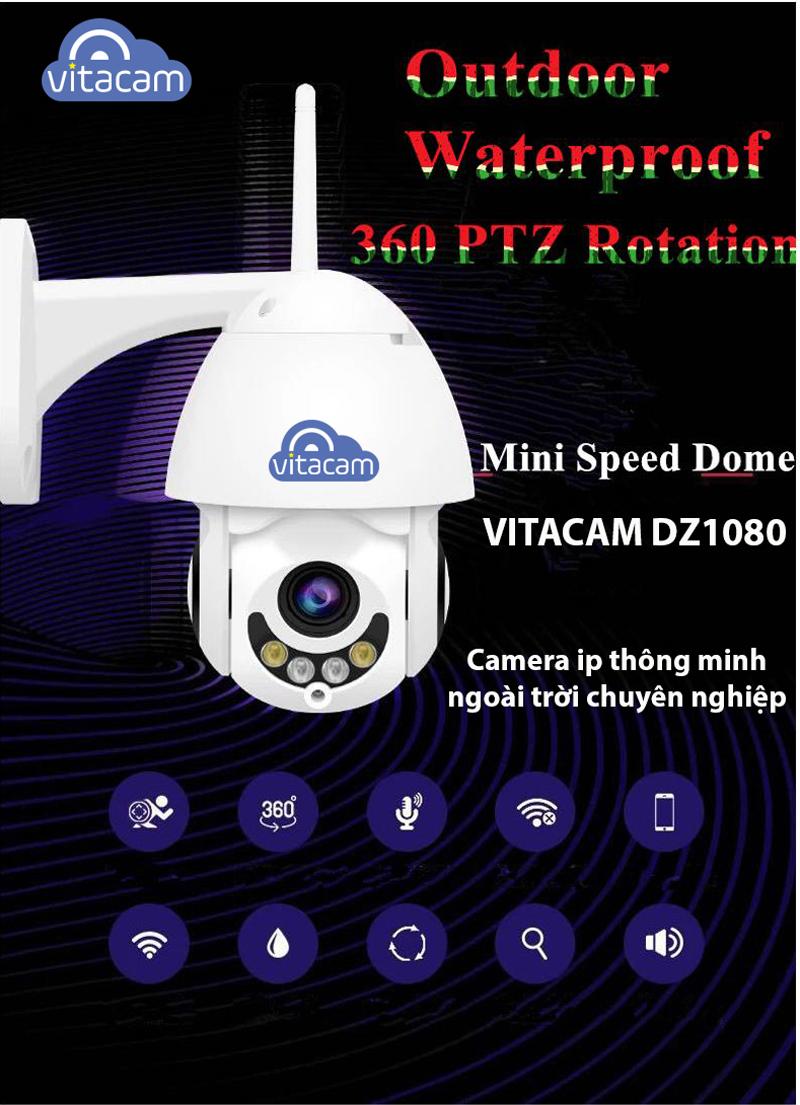 VITACAM DZ1080 - CAMERA SPEED DOME PTZ NGOÀI TRỜI CAO CẤP